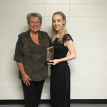 Kayla Bull - Oboist - 2016 Recipient of the JPPAS Award with Steering Committee Chair Raeleen Horn.